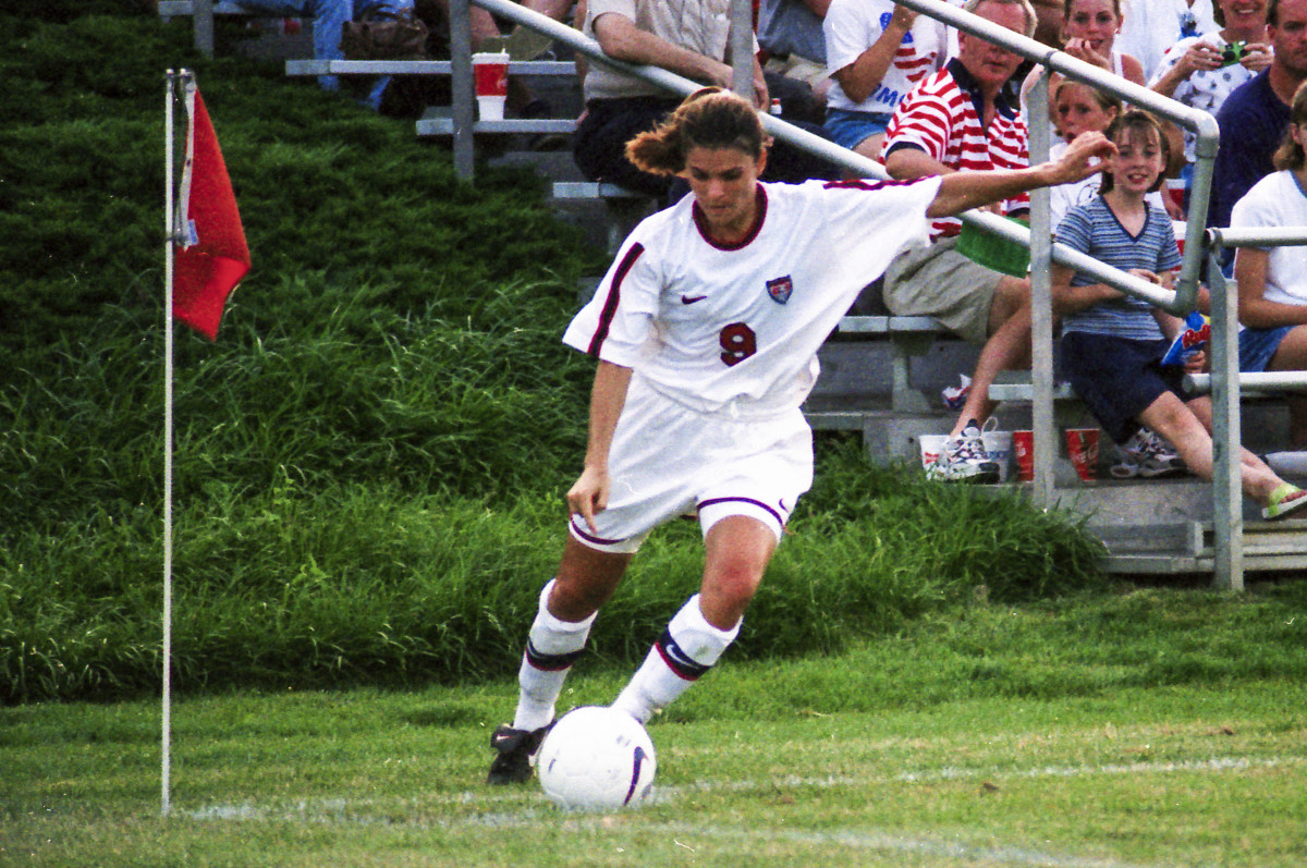 Mia Hamm was named FIFA's World Player of the year twice.