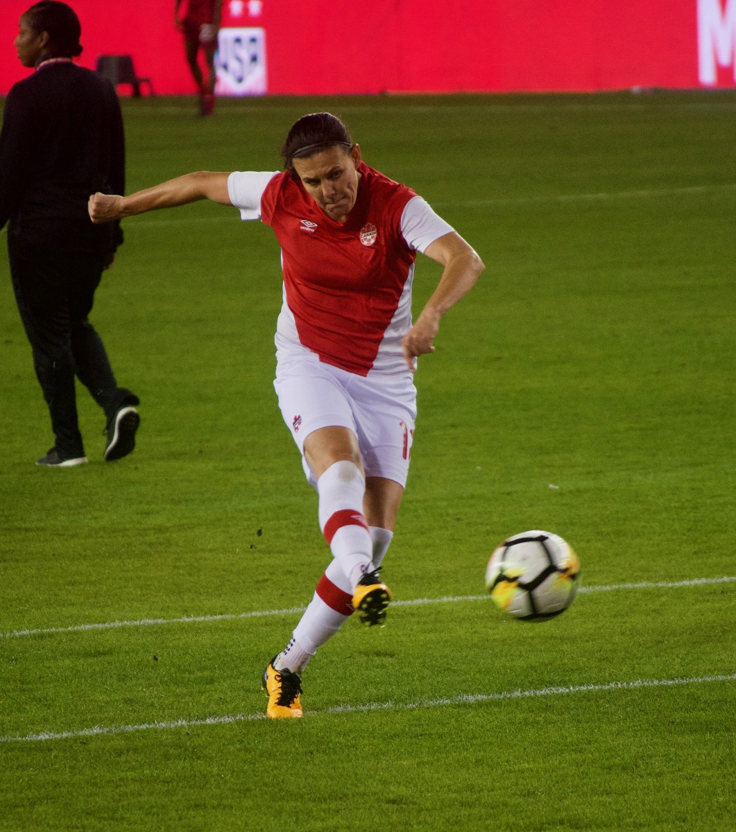 Christine Sinclair is the all-time leading scorer for Canada.