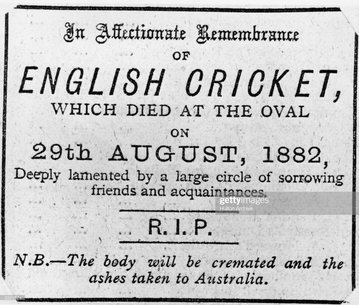 The now famous headline printed in the aftermath of Australia's improbable victory.