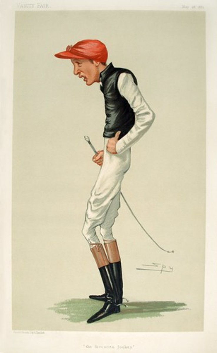 A caricature of a gaunt-looking Archer that appeared in Vanity Fair in 1881.