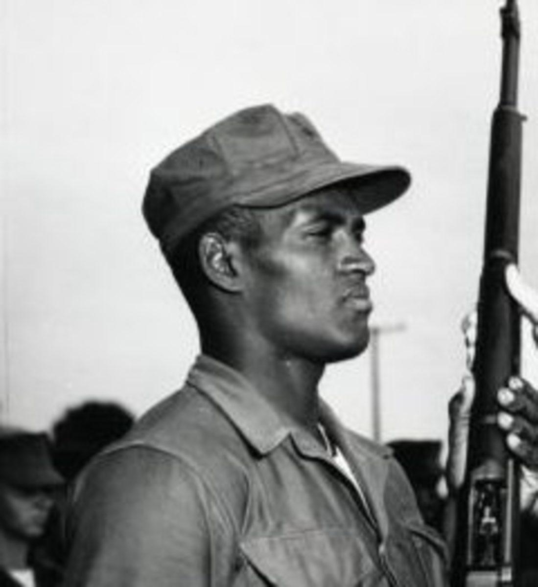 Roberto Clemente in US Marine Corps.
