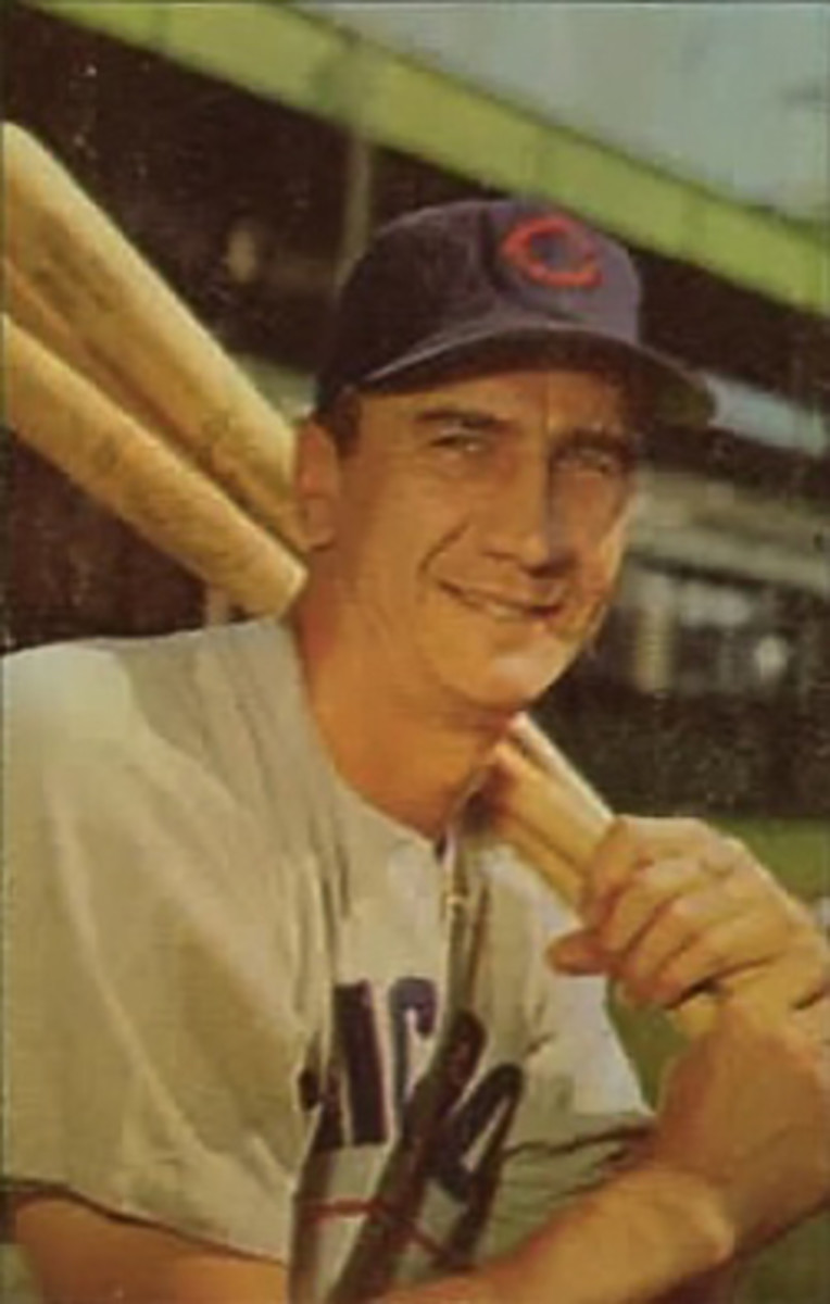 Hank Sauer with the Cubs at age 36.