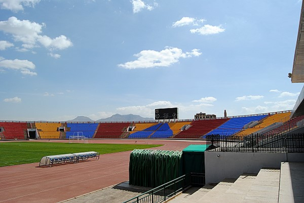 Althawra Sports City Stadium in Sana'a, Yemen hosted many matches, including a notable 2-1 upset during a 2002 World Cup qualifying. On Sept. 13, 2016, the stadium suffered extensive damage during a Saudi Arabia-led airstrike.