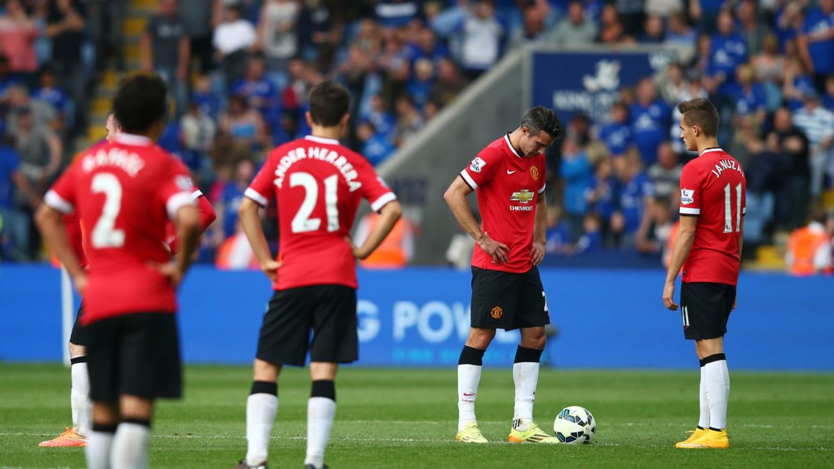Van Gaal's star-studded lineup came undone against Leicester.