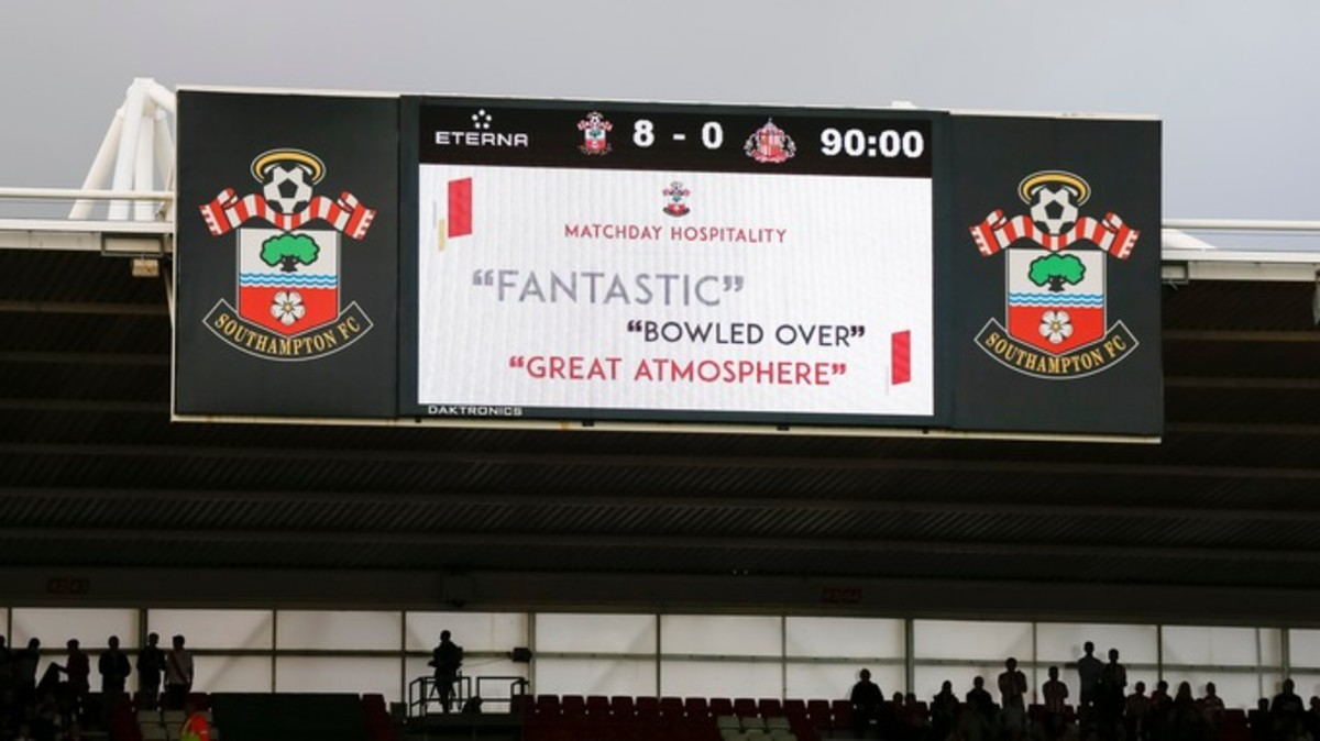 Southampton's 8-0 thrashing was their biggest win ever in the top flight.