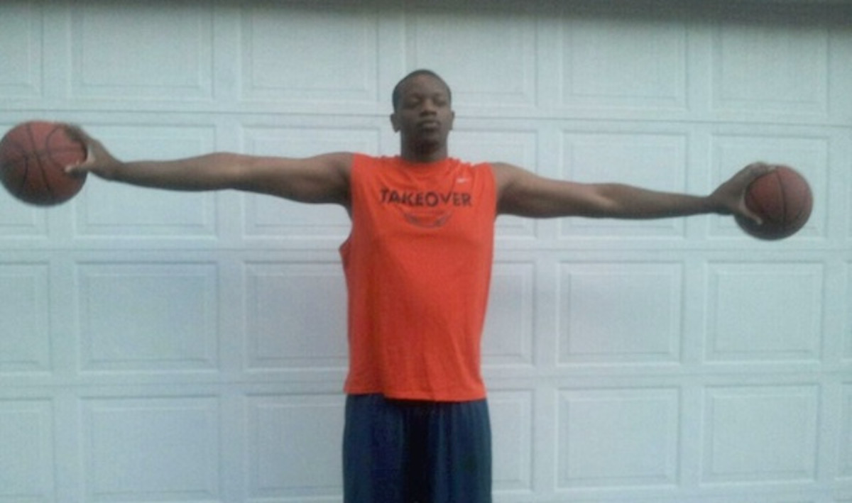 "Though not in the NBA, BeeJay Anya holds the record for the highest ape index of any known basketball player. He is 6'9"" with a ridiculous 7'9"" wingspan giving him a +12 ape index."