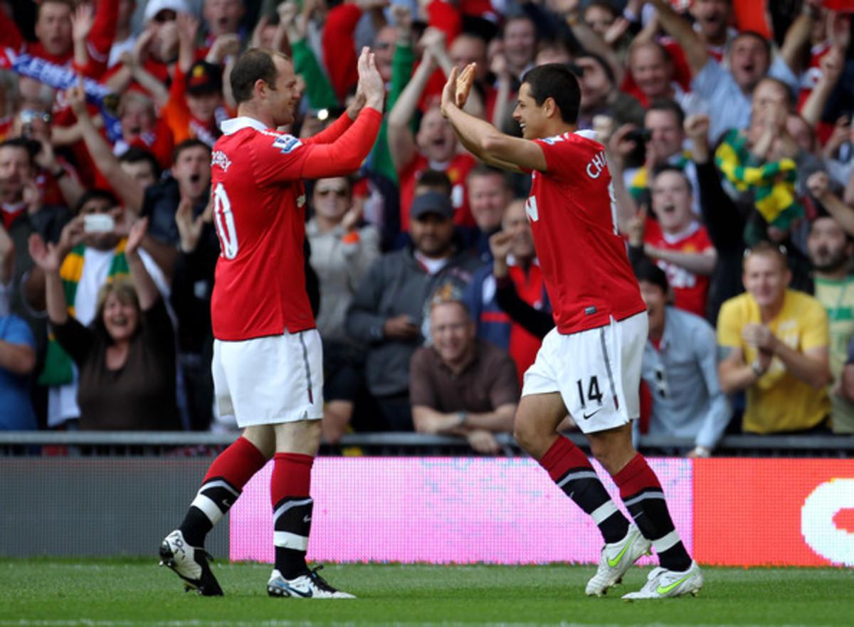 Wayne Rooney and Javier Hernandez.