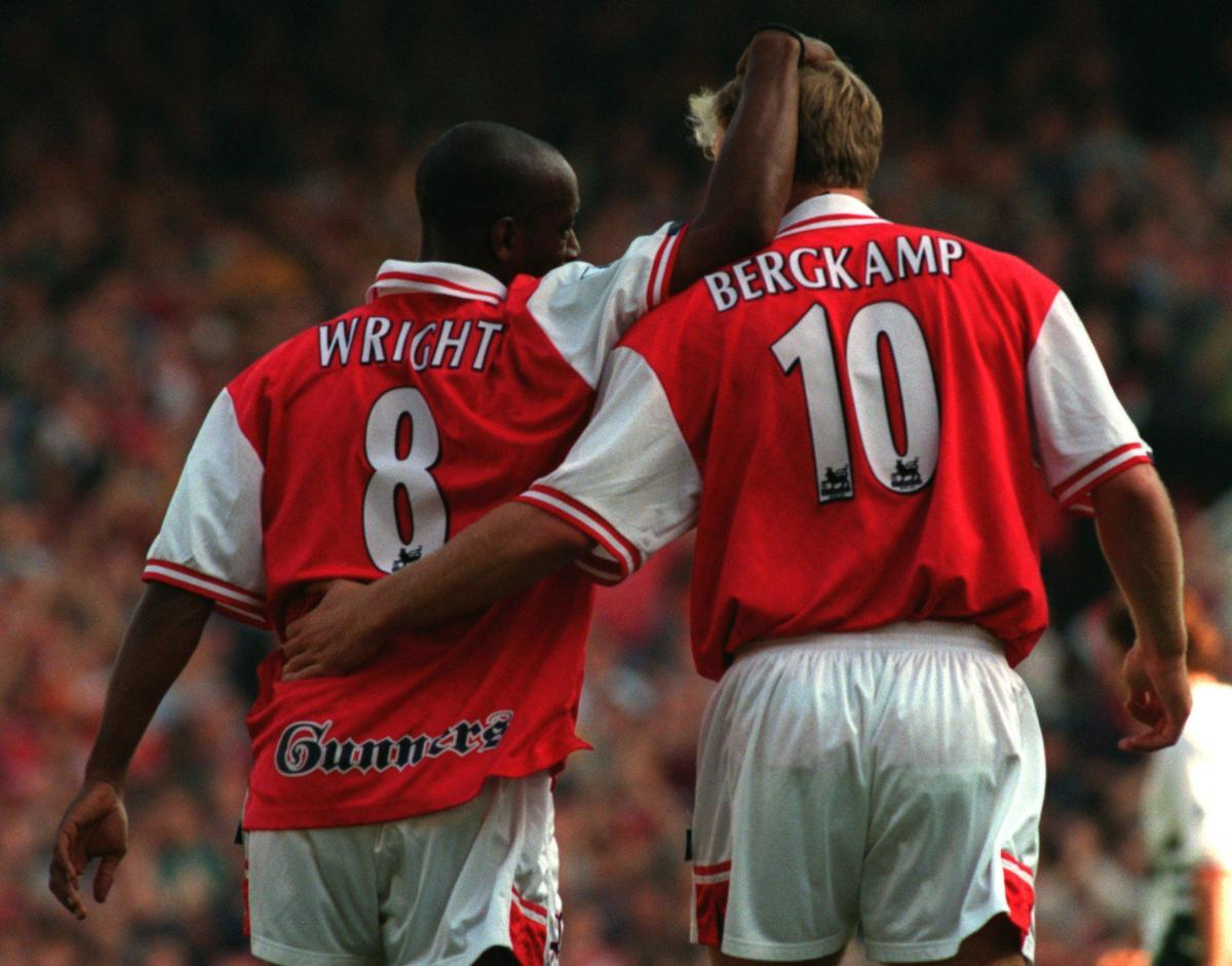 Ian Wright and Dennis Bergkamp.