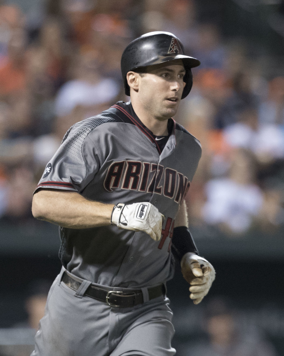 Former Arizona Diamondbacks first baseman Paul Goldschmidt heads to first base against the Baltimore Orioles in a 2016 game. Goldschmidt was the first major superstar to be drafted and developed by the franchise.