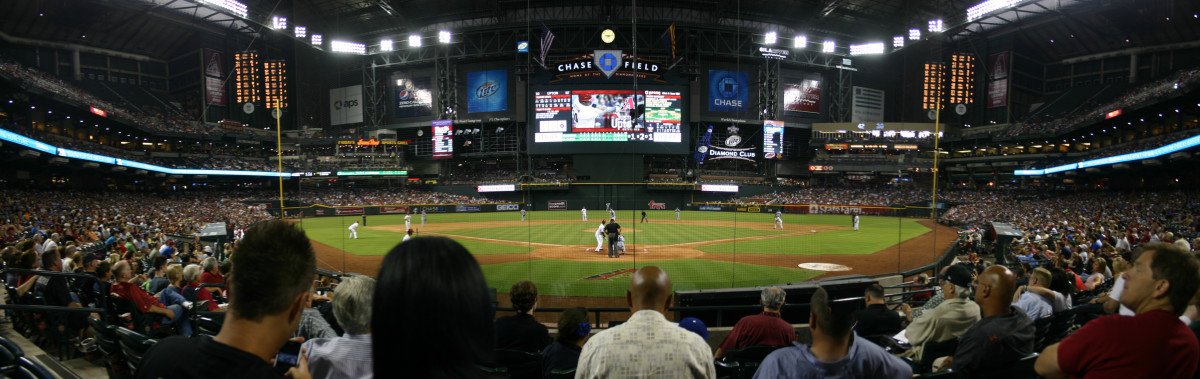 Former Arizona Diamondbacks outfielder Justin Upton bats at Chase Field in 2011.