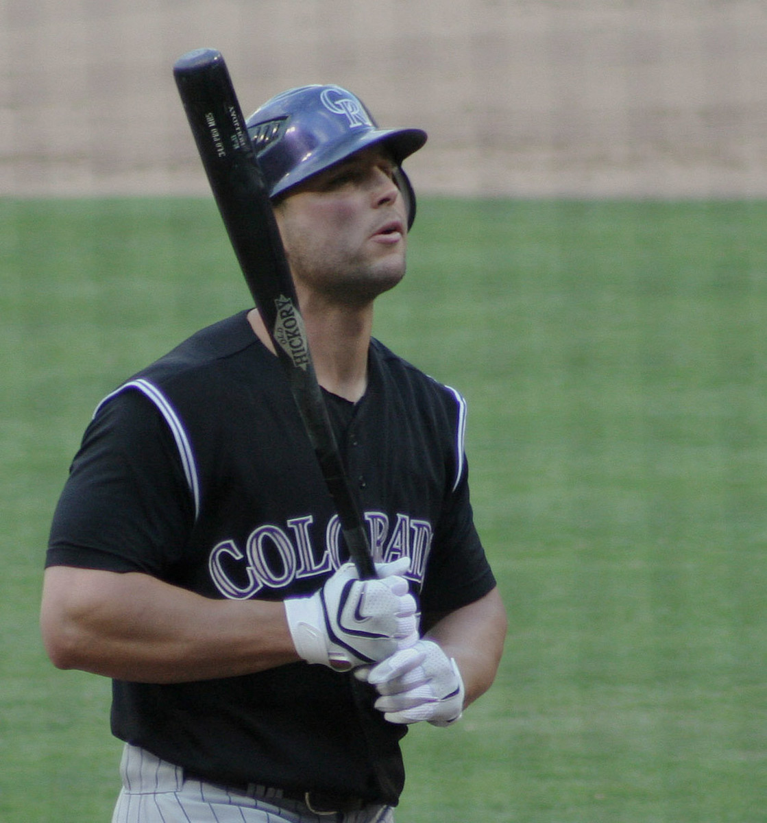 Former Colorado Rockies outfielder Matt Holliday prepares for an at-bat during the 2007 season.