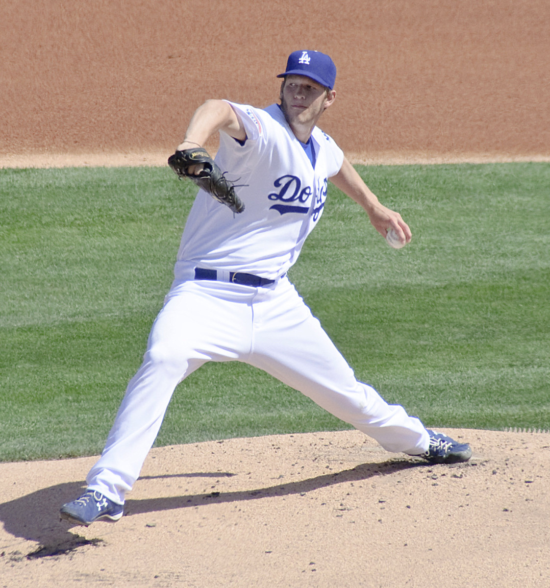 Los Angeles Dodgers pitcher Clayton Kershaw fires a pitch during the 2010 season. Kershaw is currently among the best pitchers in baseball.