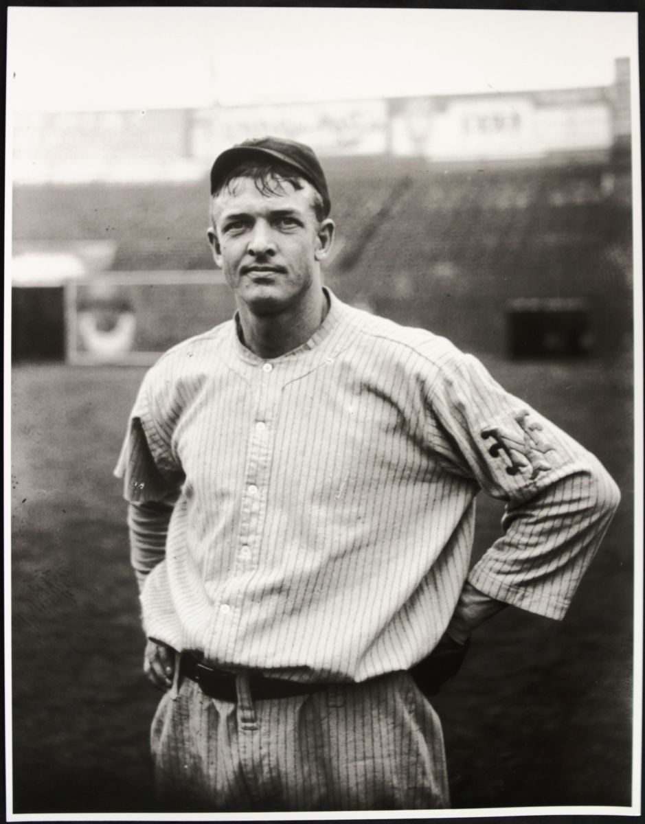 The greatest pitcher in the history of the Giants is Christy Mathewson, who is seen here in 1912. A charter member of the Baseball Hall of Fame, Mathewson hold numerous franchise records that will never be broken.