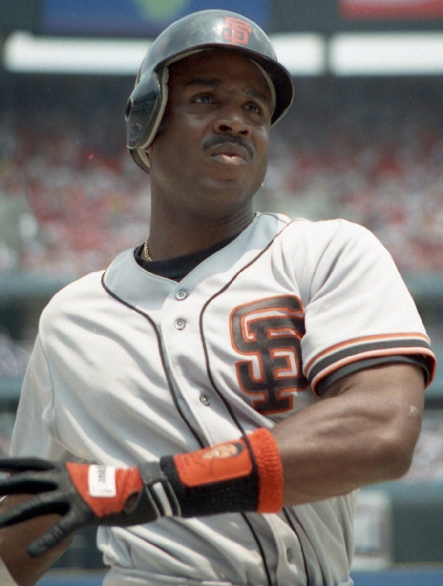 Former San Francisco Giants outfielder Barry Bonds is seen during the 1993 season, his first with the franchise. He would win the Most Valuable Player trophy that year—his first of five with the Giants.