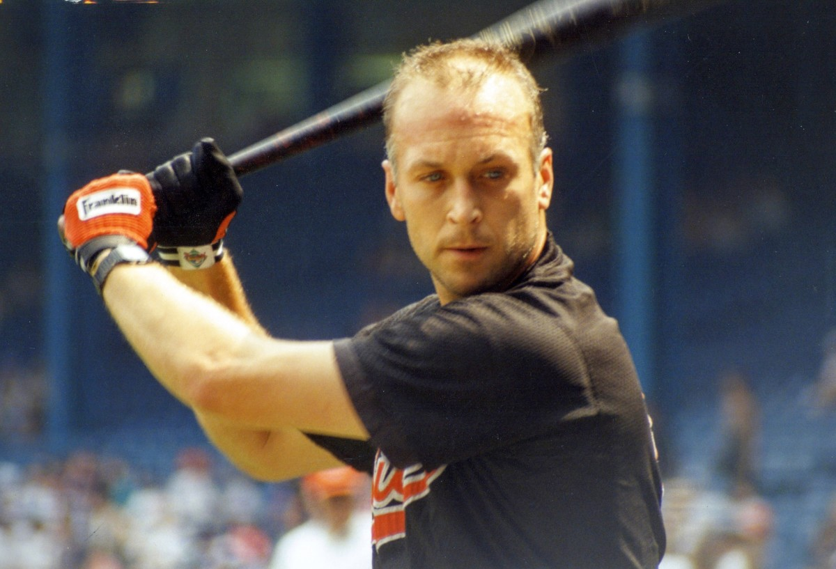 Cal Ripken Jr. prepares for a game during the 1993 season. Two years later, he set a record by playing in his 2,131st straight game.