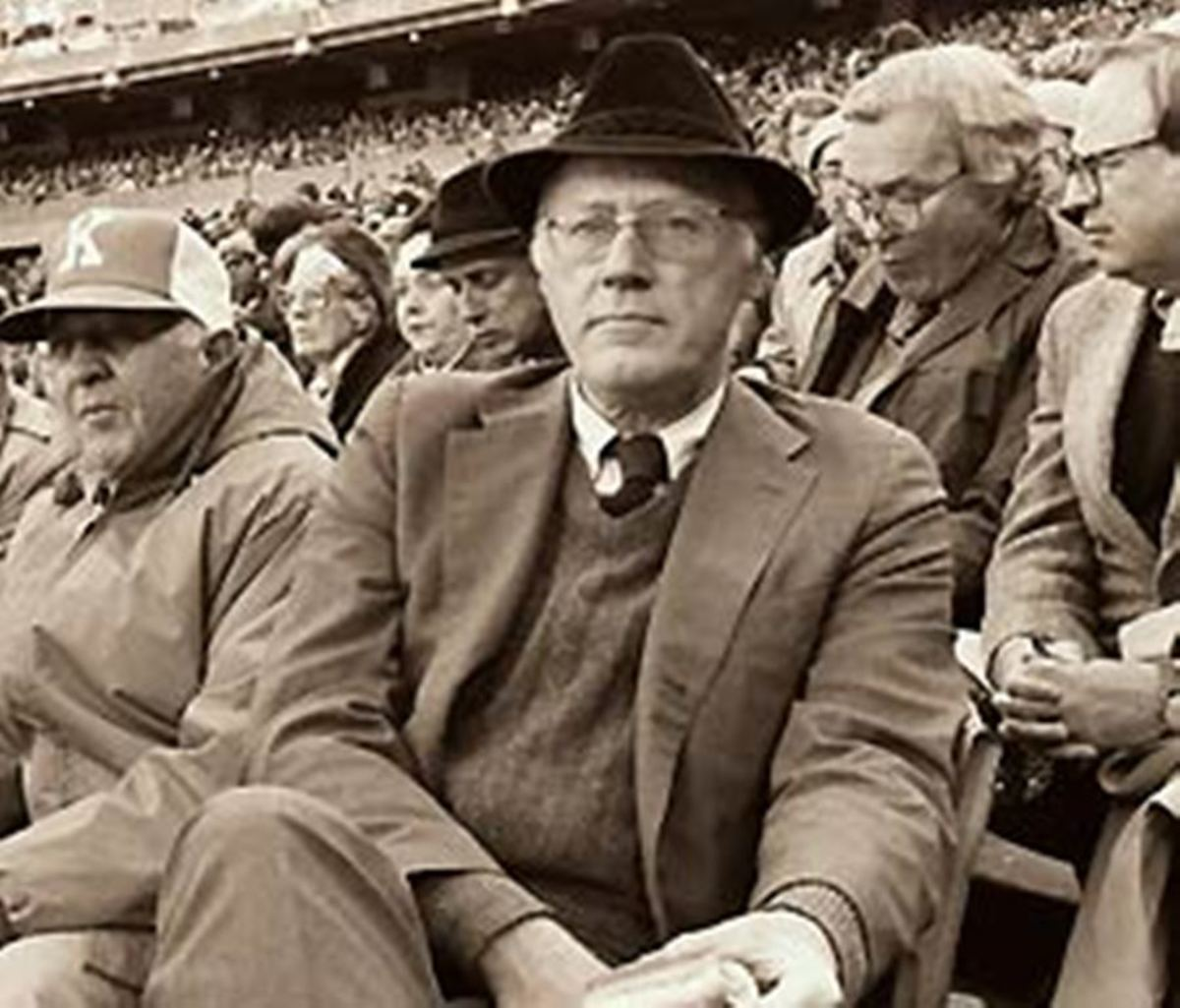 MLB Commissioner Bowie Kuhn. He faced enormous challenges during his tenure, from racial and labor strife to nervous TV executives.
