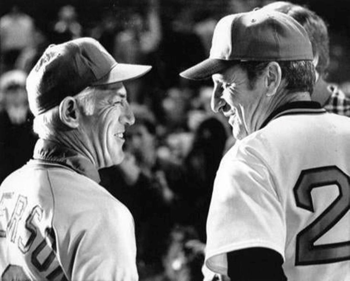 Sparky Anderson and Darrell Johnson