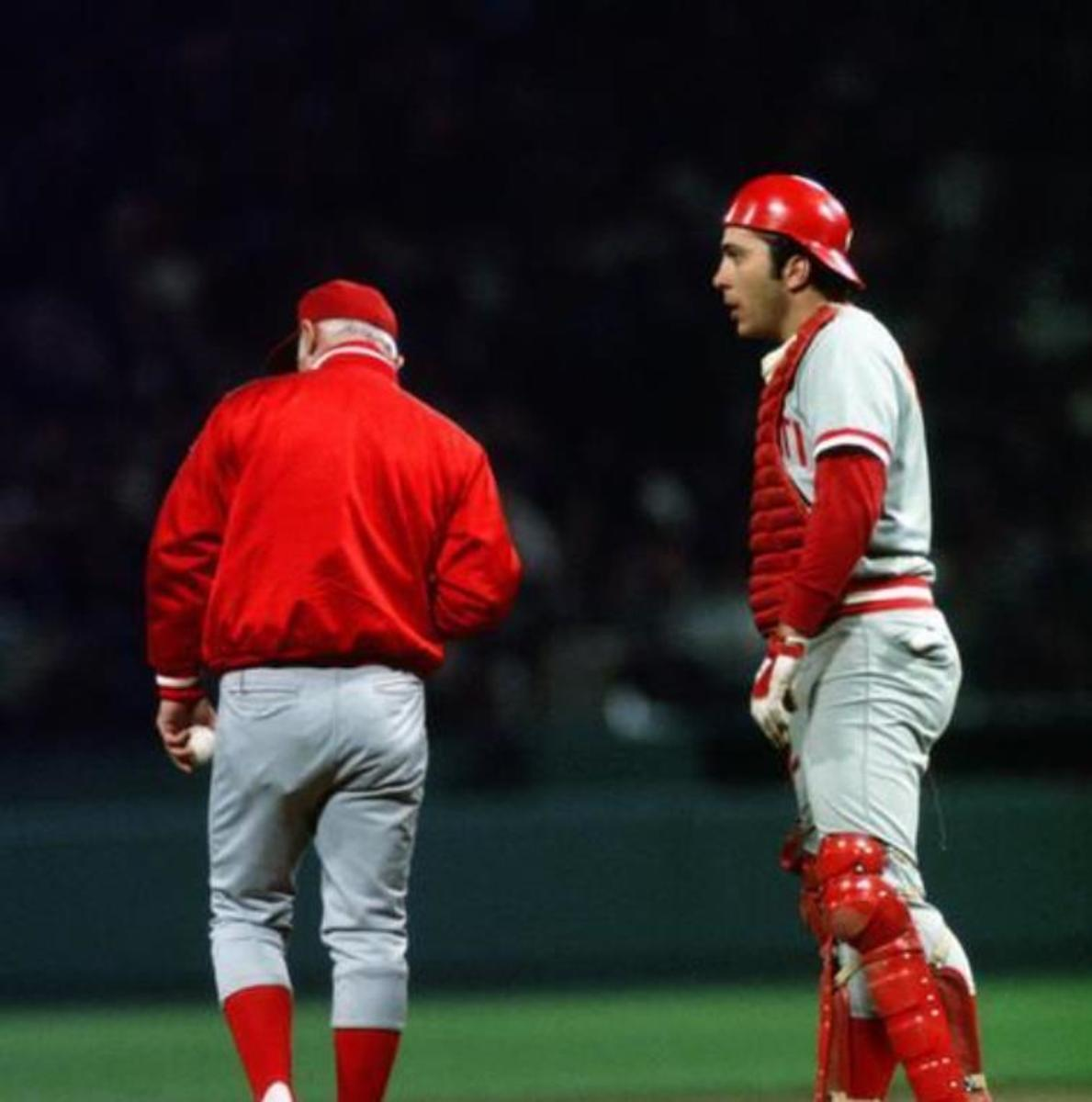 Captain Hook: Sparky would change pitchers 7 times in the game, 3 times before the end of the 5th.