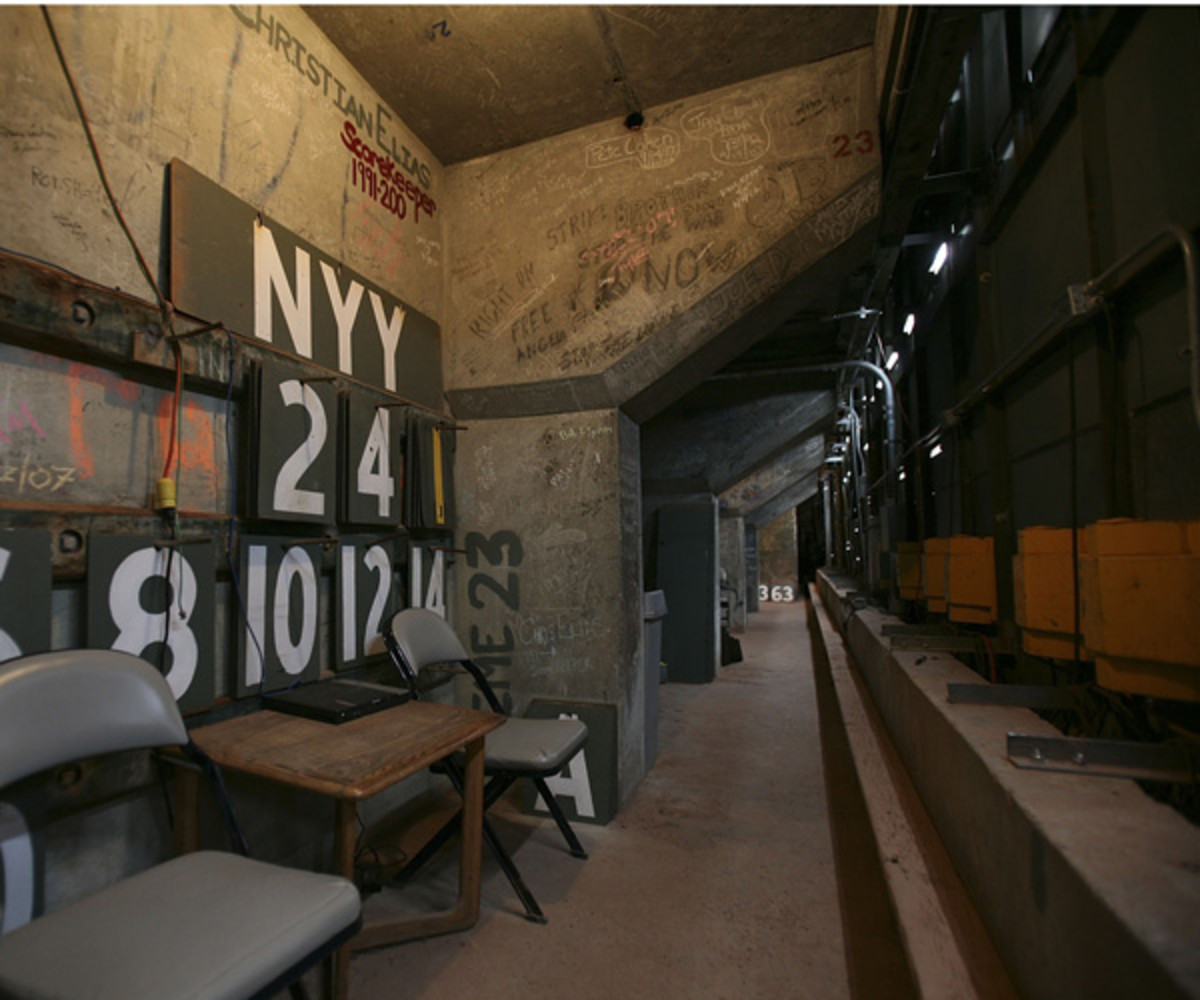 Inside the Green Monster. The placement of a cameraman inside created TV history.