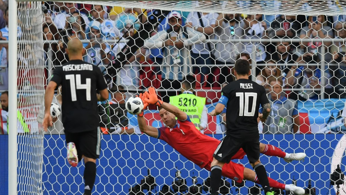 Iceland's moment during the 2018 World Cup came in Moskva when Hannes Þór Halldórsson save Lionel Messi's penalty kick against from Argentina's Lionel Messi to preserve a 1-1 draw. Hannes is also a part-time filmmaker when not playing football.