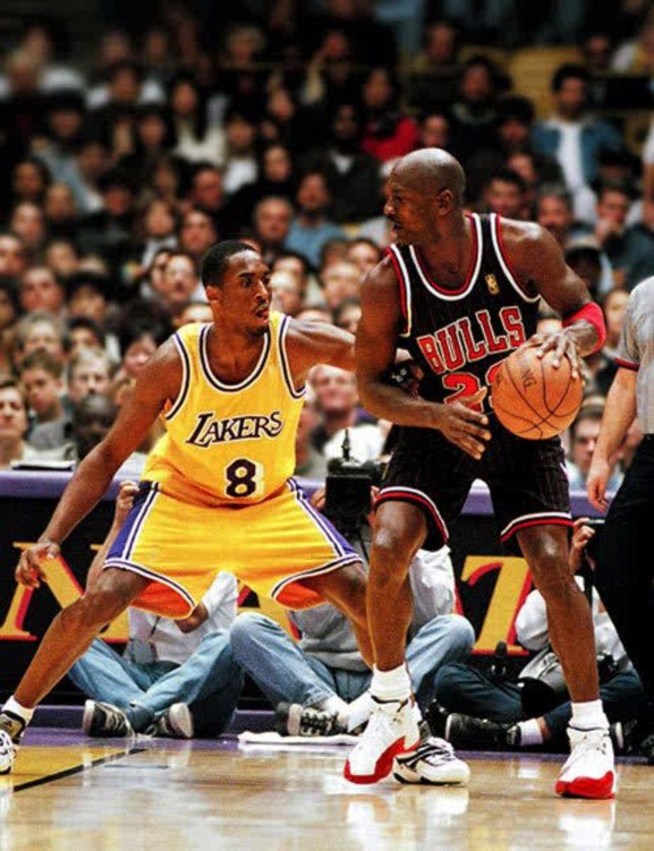 Kobe passed Michael Jordan and became third on the NBA scoring list.