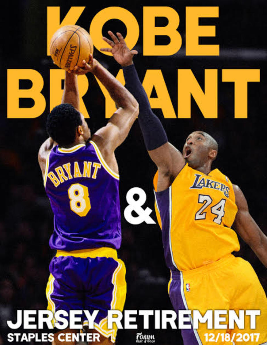 Kobe Bryant shined using both the number 8 and 24 jerseys.