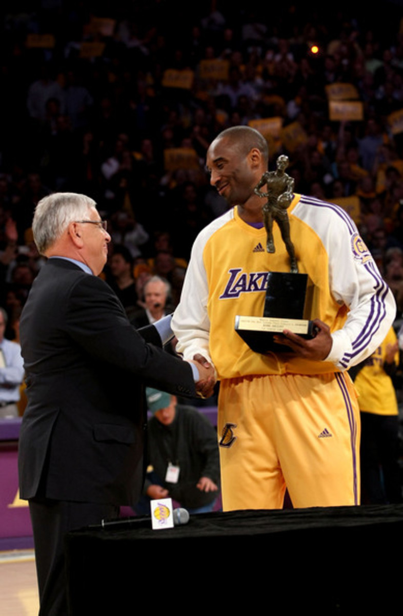 Kobe was at his absolute prime in 2008 when he won the Maurice Podoloff trophy.