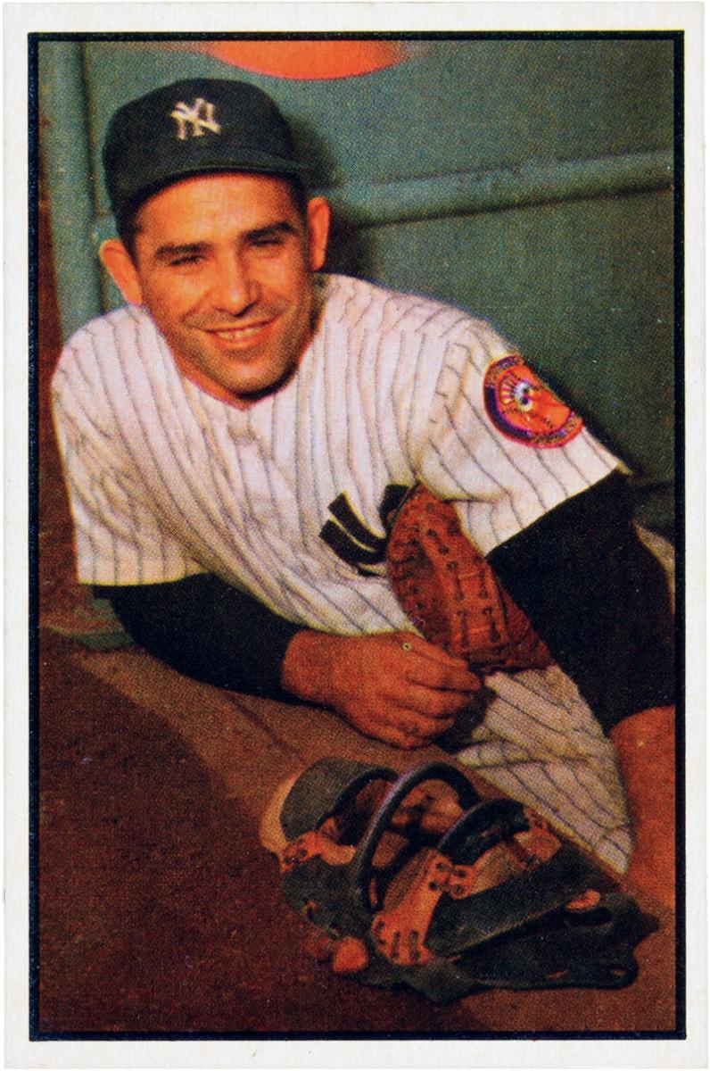 Yogi Berra's 1953 Bowman card.