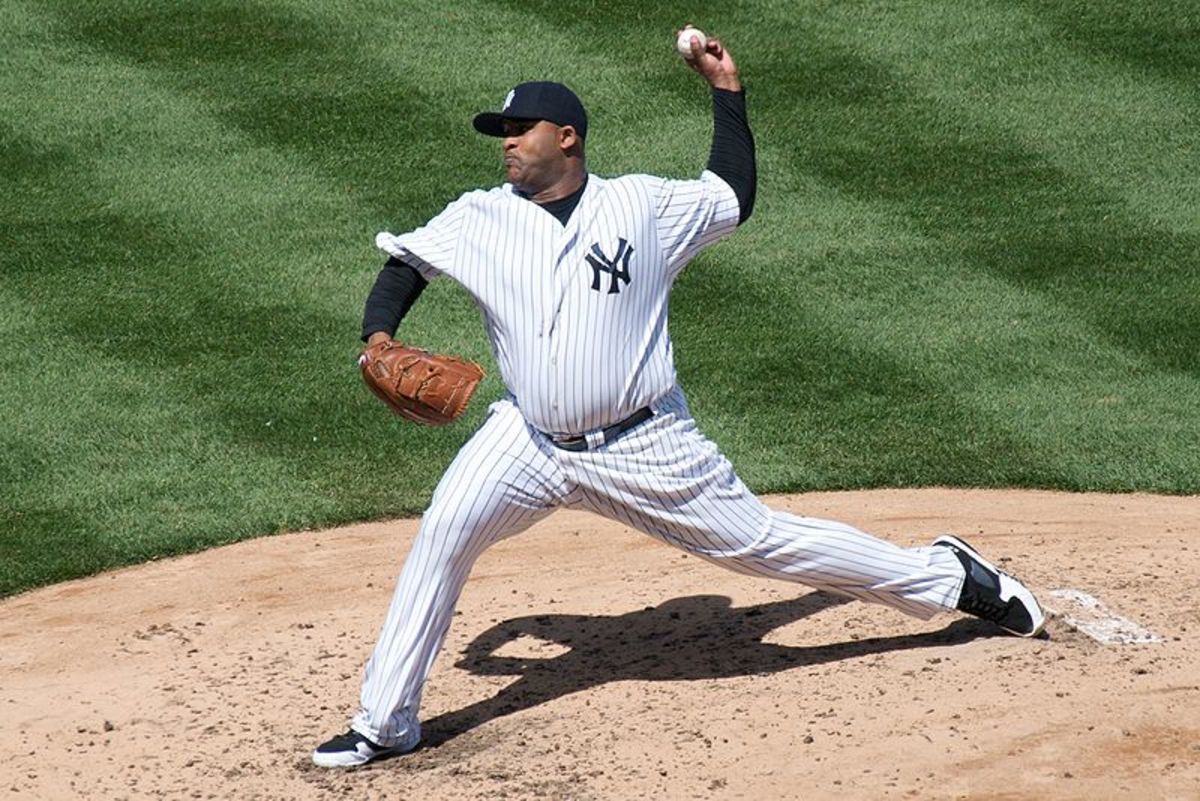 Former Yankees pitcher C.C. Sabathia has a respectable .207 career batting average.