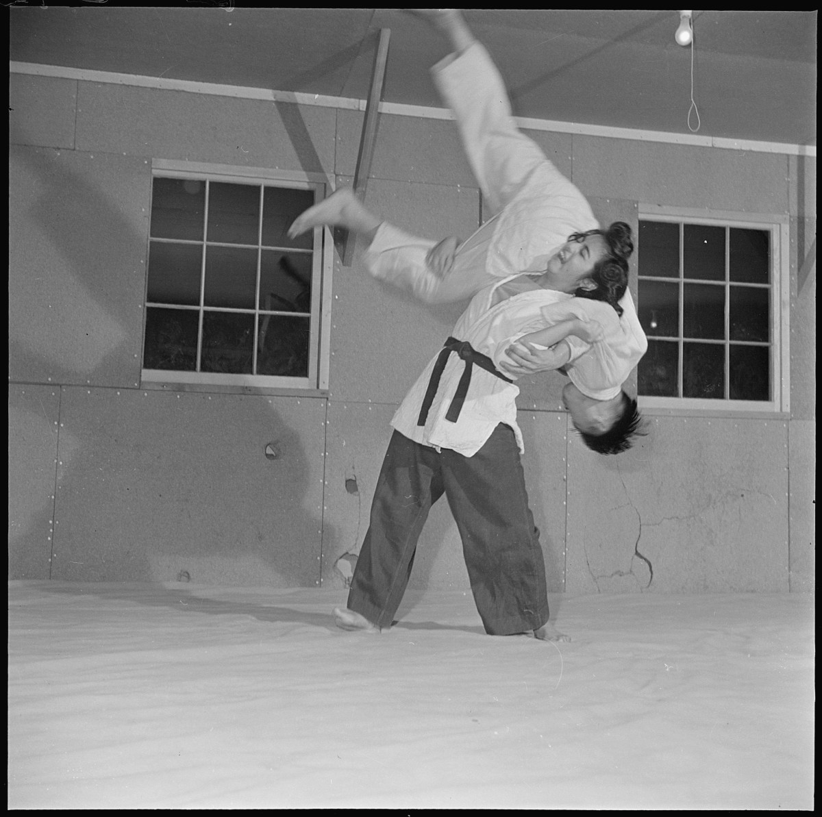 Judo emphasizes throws, some of which are very deadly is executed in a way to do damage to the attacker.