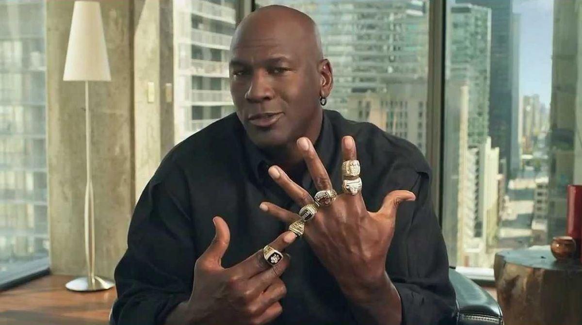 Michael Jordan won 6 rings in two 3-peats.
