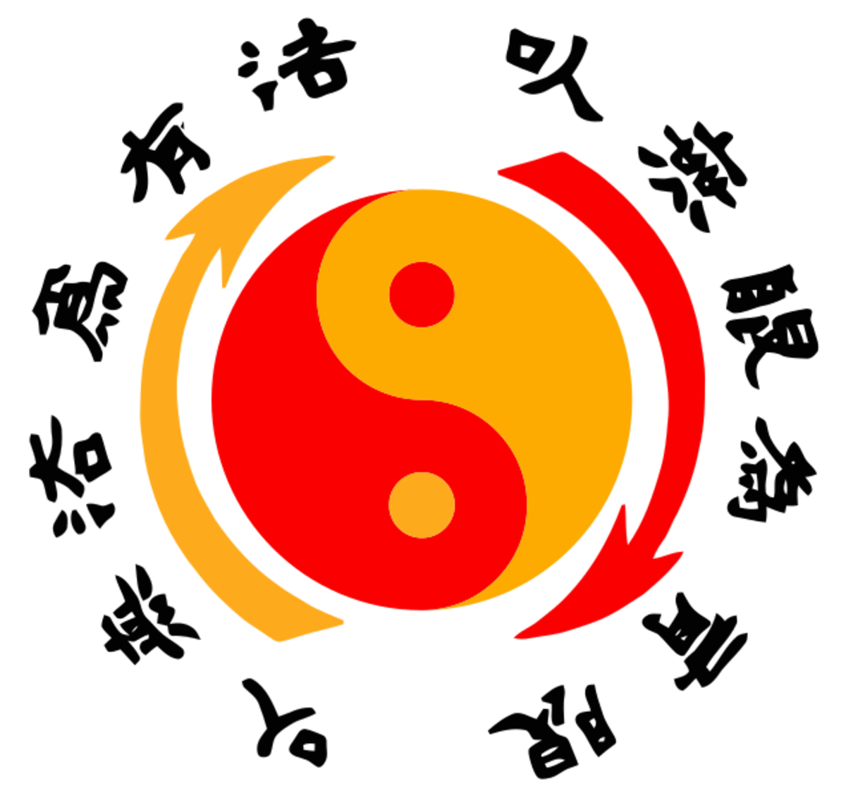 Jeet Kune Do uses symbolism similar to Tai Chi symbols, including Taoist Yin Yang.