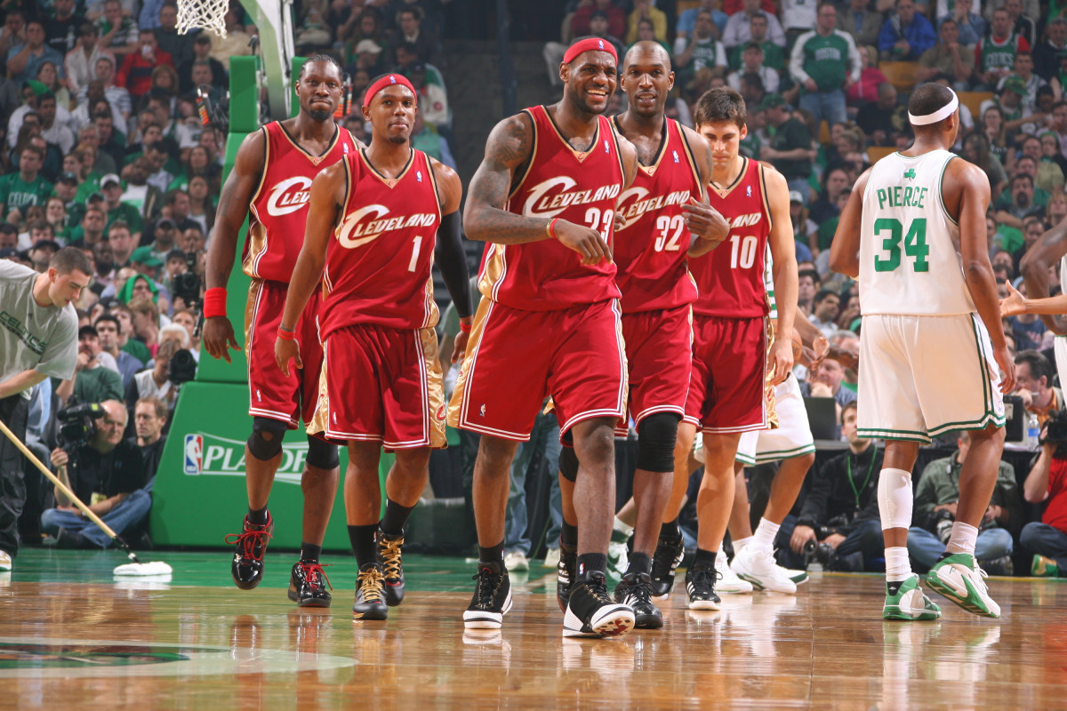 LeBron James 2007 teammates