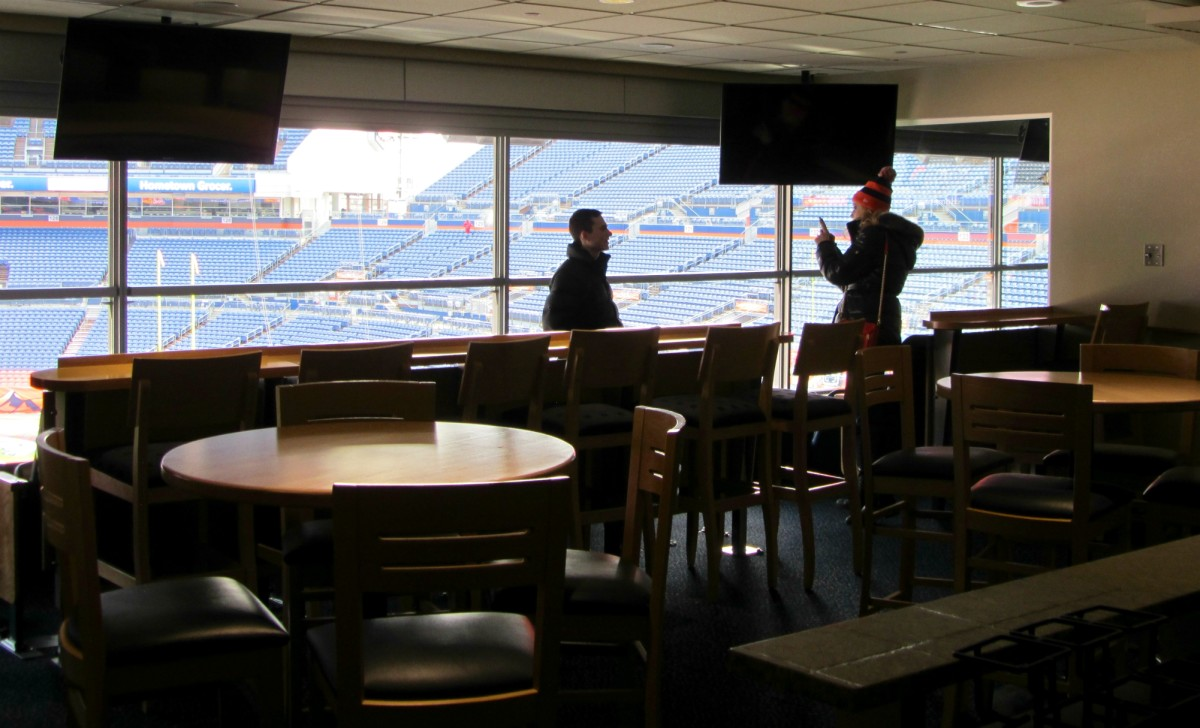 Inside the United Suite at Mile High Stadium