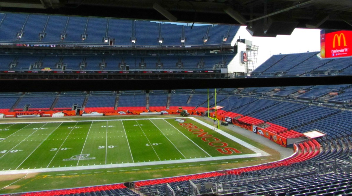 View from the United Suite at Mile High in Denver