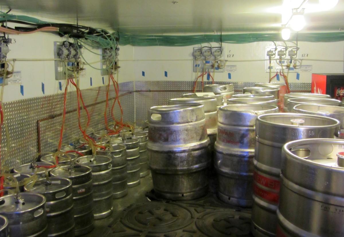 The keg room at Mile High Stadium