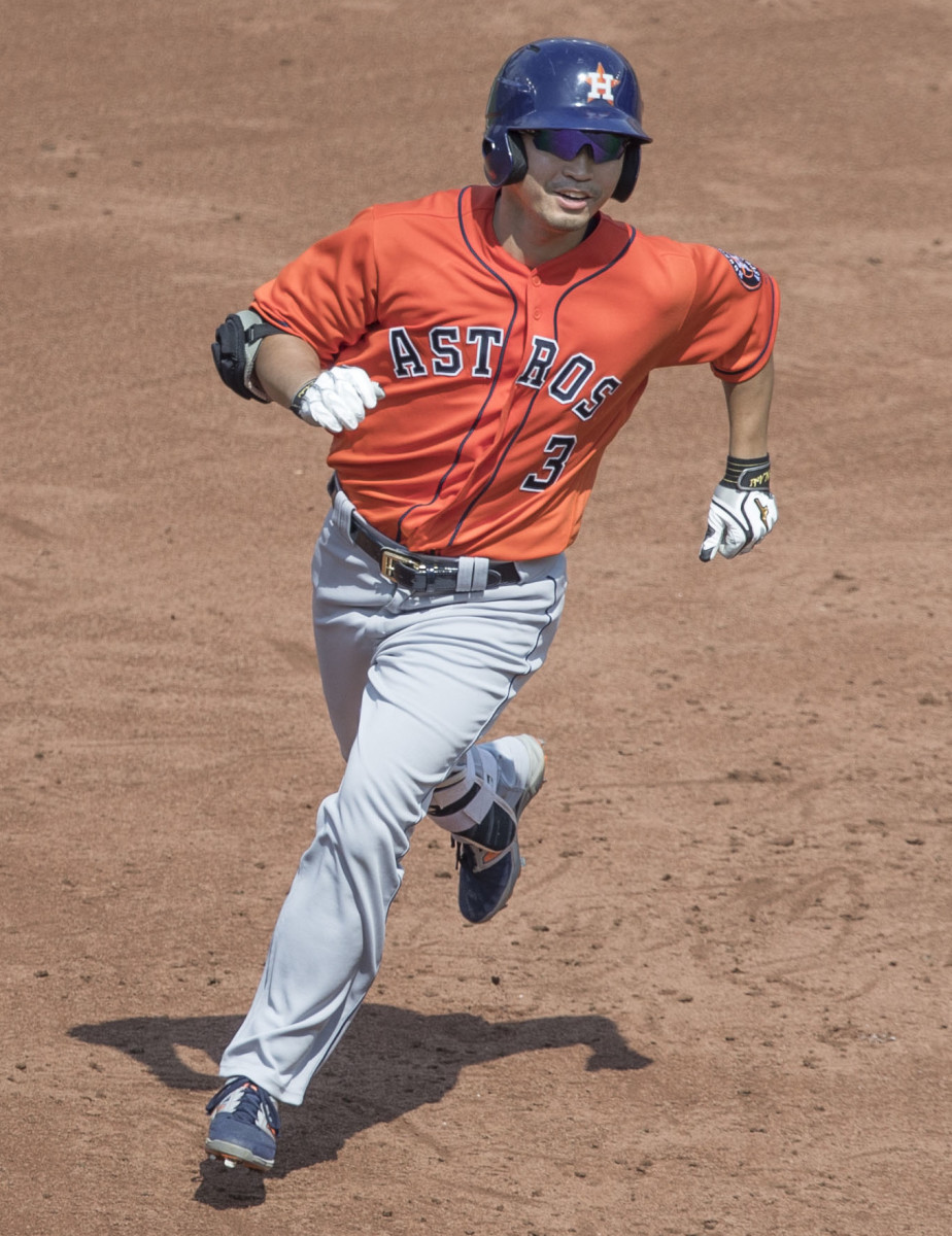 Nori Aoki played for seven franchises in Major League Baseball, including the Houston Astros.