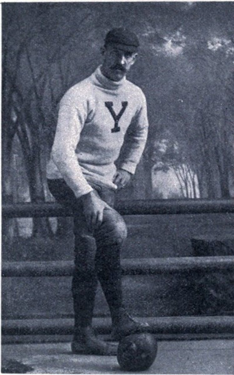 Walter Camp as player at Yale