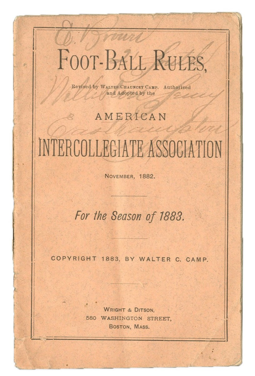 American Football rules by Walter Camp