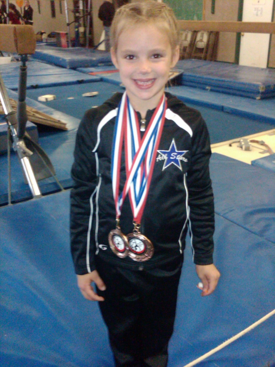 Gymnastics builds confidence and poise, as well as strength