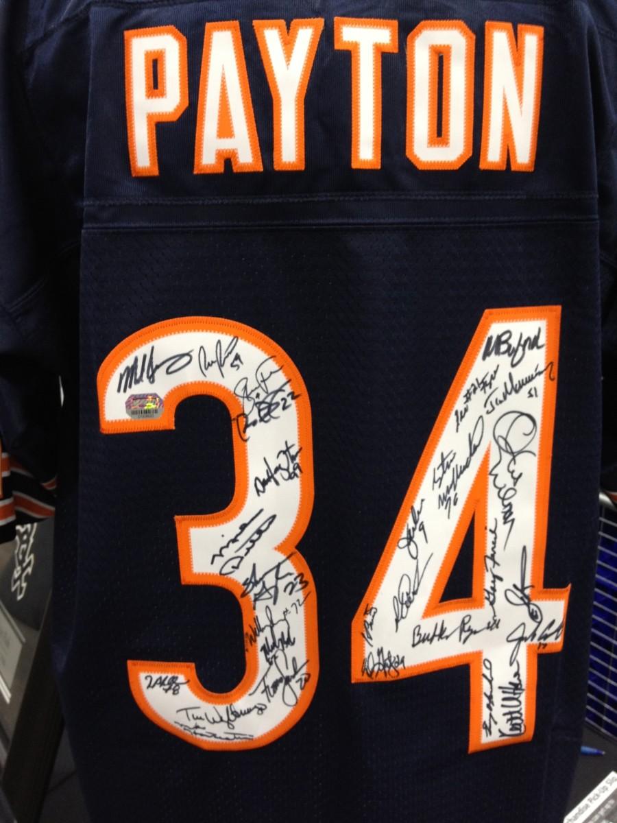 Walter Payton's number 34