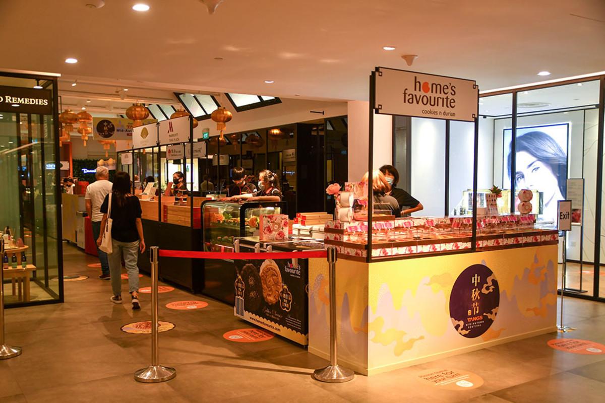 A smaller-scale Mid-Autumn Festival food fair.
