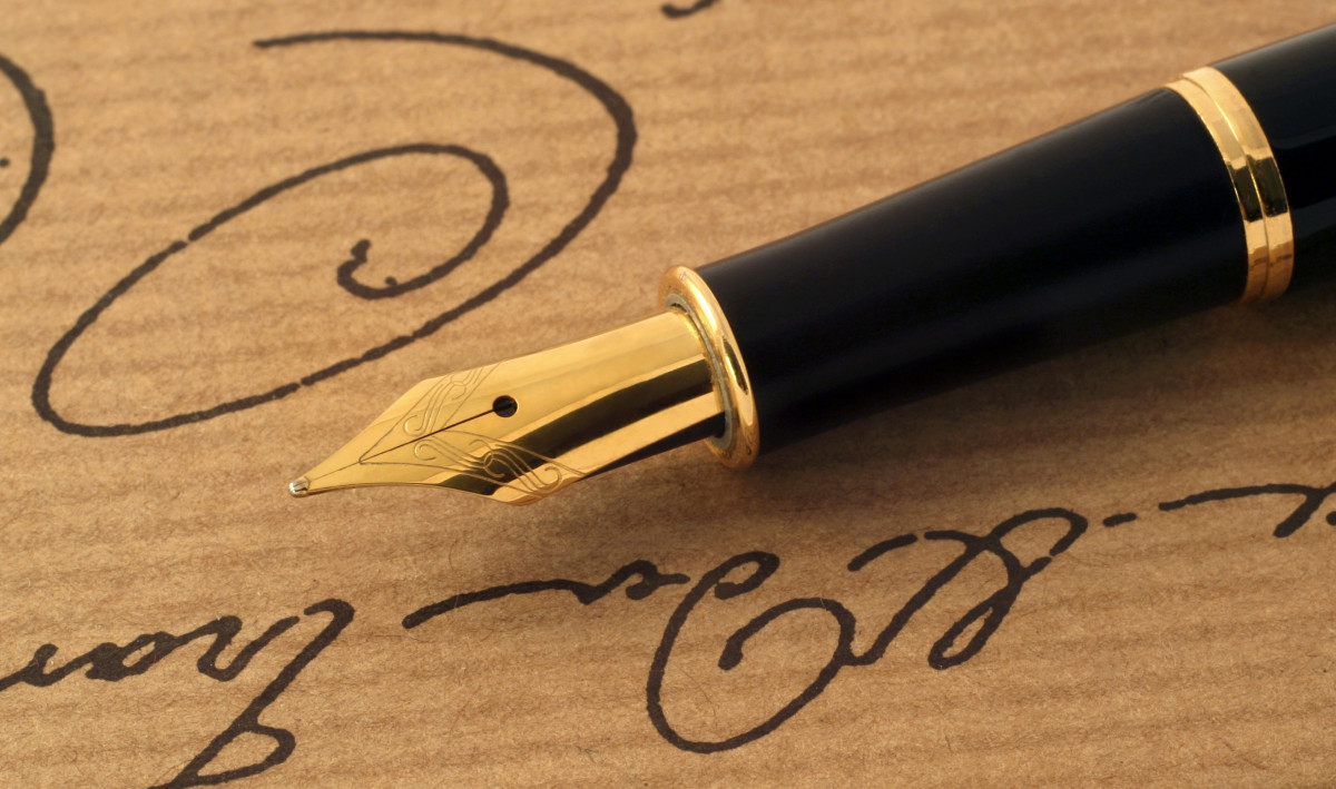 Let me tell you a secret. All writers have a magic fountain pen.  It's a pact we make with Satan.