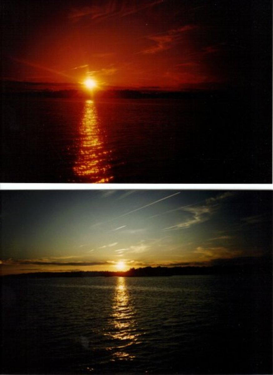 Sunsets in Ontario, Canada.