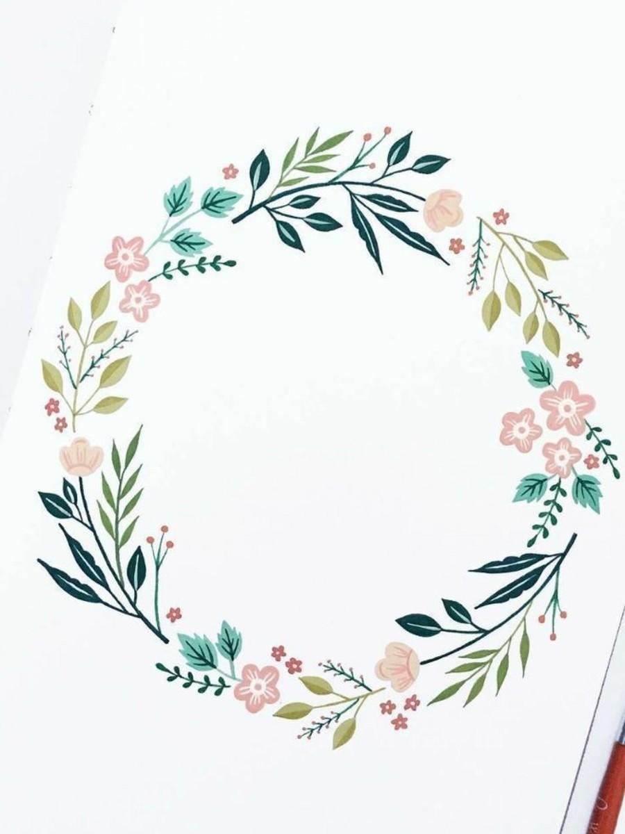 A wonderful flower wreath...
