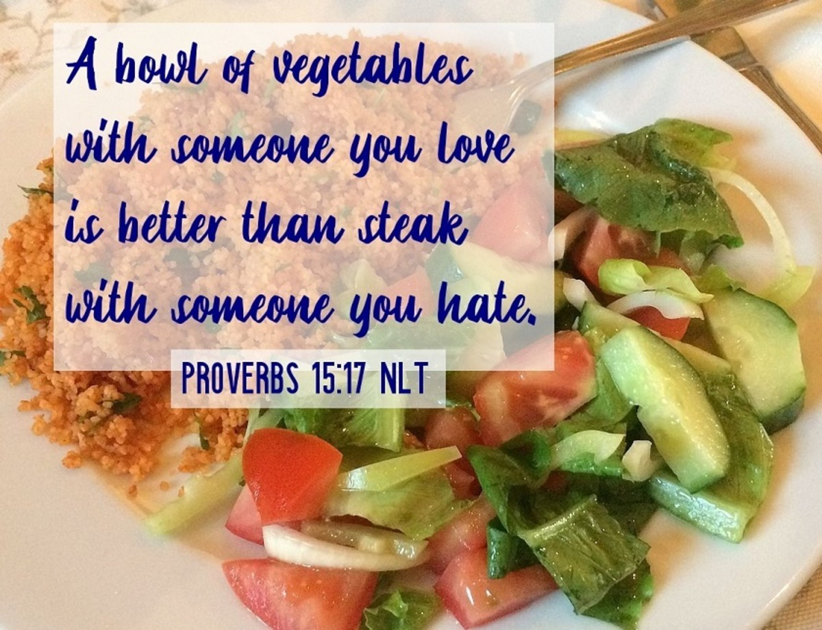 Vegetables with someone you love is better than steak with someone you hate.