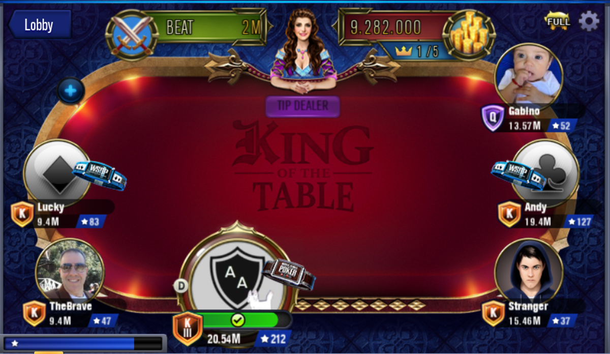 The King of the Table poker table.