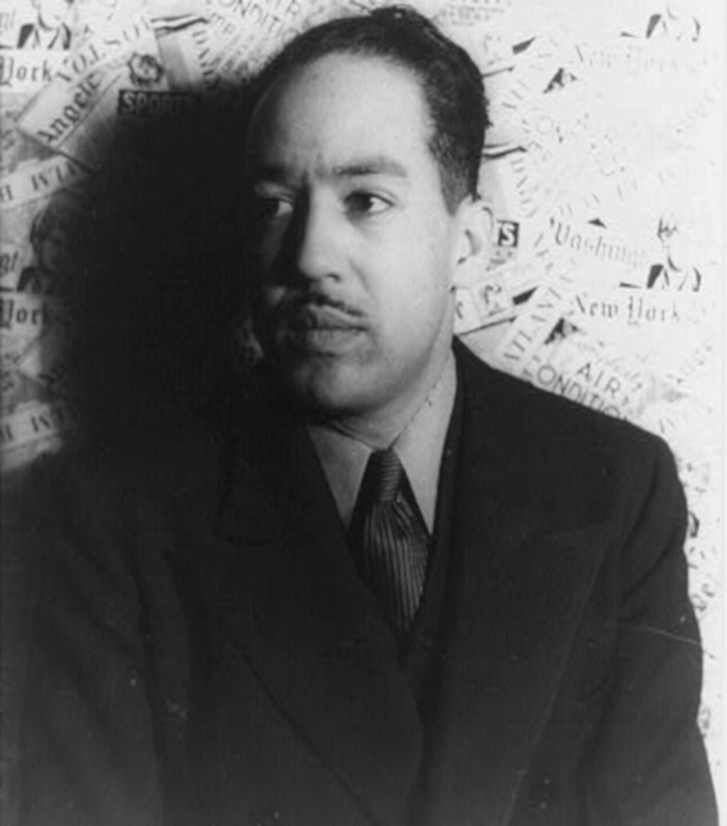Portrait of poet, novelist, playwright Langston Hughes, 3/4 profile; Carl Van Vechten, photographer, Feb. 29, 1936.