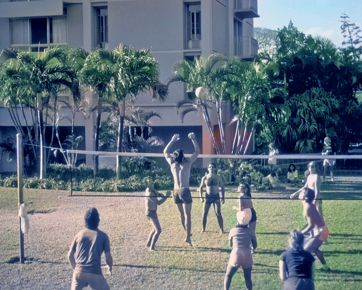 Perhaps a good starting point for hand coloration, but not much more than that. Maybe these volleyball players were too far away for the AI to apply facial recognition, which it seems to use as a starting point in colorizing people.