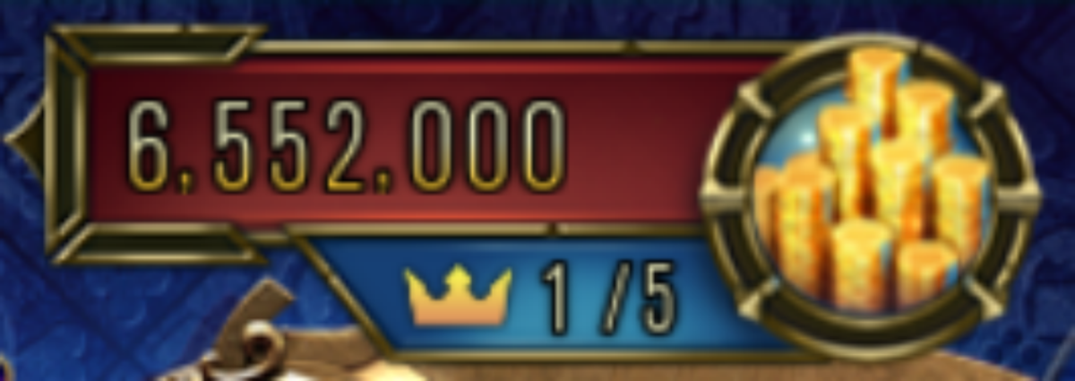 This is the size of the king's jackpot.